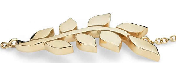 14K Gold Leaf Bracelet By Blue Nile